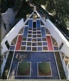 Jardín cubista de Gabriel Guevrekian | Villa Noailles de Robert Mallet-Stevens | 1926