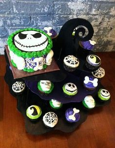 Nightmare Before Christmas Baby Shower | Nightmare Before Christmas   Cute  Cupcake Stand   Pic Only