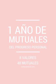 48 mutuales para las Mujeres Jóvenes por mes basadas en las metas del Progreso Personal.