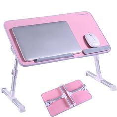 Laptop Table Stand Portable Mobile Laptop Standing Desk Aluminum Bed Tray A5D0