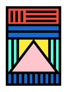 Designer: Camille Walala  Print inspired by the Walala Dream Come True Building that Camille Walala did for SPLICE TV in April 2015 in shoreditch. Giclée print on 308gsm Photo Rag paper.  Part of a limited edition of 25 in size A1. Signed and numbered. Sold without frame.  Size: A1 (59.4 x 84.1cm)