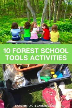 Tool play is so important for children, and develops many key skills and abilities. Using tools in forest school allows children to experience danger in… Outside Activities For Kids, Forest School Activities, Preschool Learning Activities, Preschool Education, Preschool Ideas, Homeschooling Resources, Social Emotional Development, School Tool, Outdoor Learning