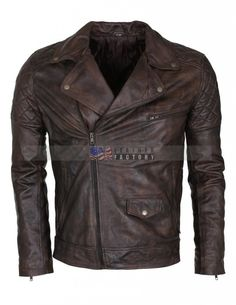 Buy Mens Vintage Dark Brown Waxed Italian Style Leather Jacket on Sale online in Los Angeles Free Shipping at USA Leather Factory with 30 days easy return,