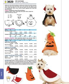 Halloween costumes for doggies. JPG saved. X