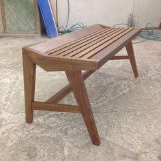 Beautiful bench by Yoshihara Furniture - https://www.instagram.com/p/zwN1iUKgCK/