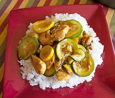 For all of you gardeners out there with a plethora of Zucchini or Yellow Summer Squash, I have a super easy, darn deliciousChicken and Zucchini Stir Fry recipe (FYI, you can still make this recipe...