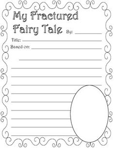 Fractured Fairy Tale Graphic Organizers by Nicole King Walters 4th Grade Writing, 4th Grade Reading, Kids Writing, Teaching Writing, Writing Prompts, Fairy Tale Projects, Book Projects, Fairy Tale Activities, Fractured Fairy Tales