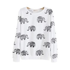 Namnoishop : 2015 #Cute #Animal Elephant Printed Hoodies Sweatshirts / The actual item's color maybe slightly different from the picture shown due to the lighting...