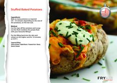Stuffed Baked Potatoes, Mashed Potatoes, In The Flesh, Fries, Recipies, Oven, Baking, Ethnic Recipes, Food