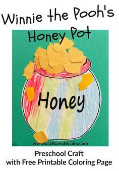 Cute Winnie the pooh preschool craft!