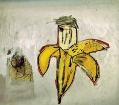 Jean-Michel Basquiat, (Brown Spots (Portrait of Andy Warhol as a Banana))