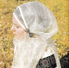 "Romanian headscarf called ""marama"" handmade of raw silk."