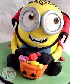 Halloween Minion. Precioso! Minion Cake birthday party kids adult unisex cupcake popcake boys and girl