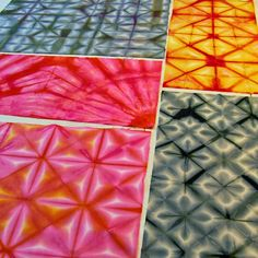 ...And Then We Set It On Fire: Shibori folding -- Month long series of folding techniques