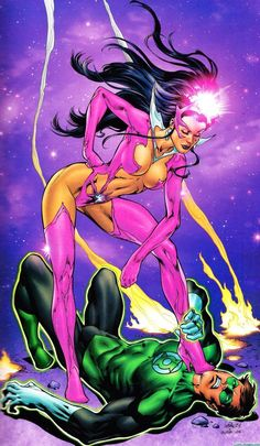 Star Sapphire and Green Lantern by Ivan Reis