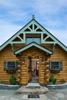 Coventry Log Homes  The Silver Ranch The Mud Room Front Door