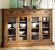 Solomon Buffet from Pottery Barn allows you to store a lot and keep it on display. Why not enjoy special pieces every day?