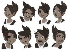 Drawing Disney Facial Expressions Makes a facial expression.