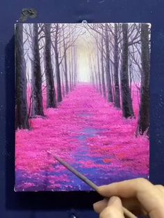 Canvas Painting Tutorials, Painting Techniques, Easy Canvas Art, Nature Paintings, Watercolor Art, Acrylic Art, Art Drawings, Maya Angelou, Health Education