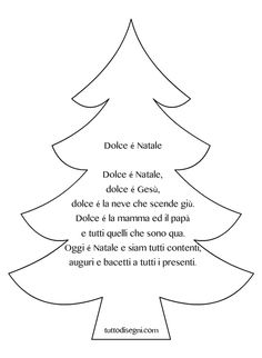 Filastrocche Natale - Dolce Natale - TuttoDisegni.com