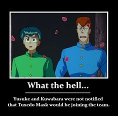 ROTFLMAO!!!! That's what happens when your creator marries the creator of Sailor Moon!!!