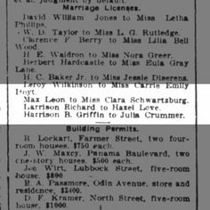 Max Leon Marriage Houston Post 15 March 1914 pg 67
