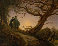 Caspar David Friedrich – Mężczyzna i kobieta zapatrzeni w księżyc