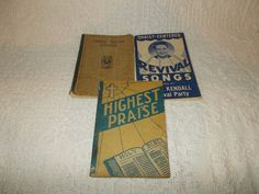 Vintage Gospel Hymnal Lot of 3 Gospel Songbooks Revival Songs Clyde Kendall