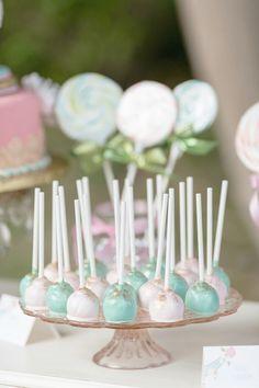 carousel cake pops #cakepops http://www.weddingchicks.com/2013/12/03/carousel-wedding-ideas/