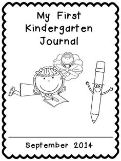 MY KINDERGARTEN JOURNAL FREEBIE (COVER AND BLANK WRITING