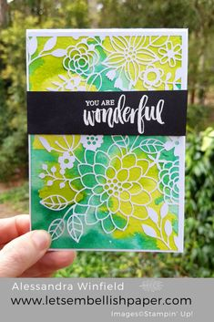 Watercolour with Laser-cut Paper – Stampin' Up!