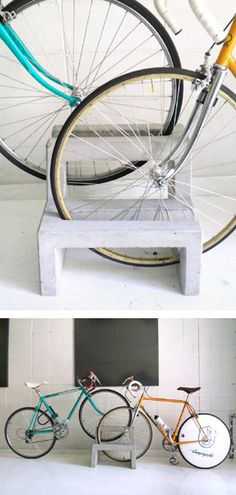 concrete bike rack