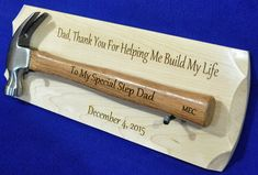 Step Father Gift Wedding Gift For Step Dad Gift To Dad Engraved Hammer Gift . Step Father Gift Wedding Gift For Step Dad Gift To Dad Engraved Hammer Gift Father Of The Groom Father Of Bride Groomsme. Diy Gifts For Dad, Gifts For Father, Homemade Gifts, Guy Gifts, Diy Birthday Presents For Dad, Fathers Day Presents, Christmas Gifts For Brother, Unique Christmas Gifts, Christmas Presents