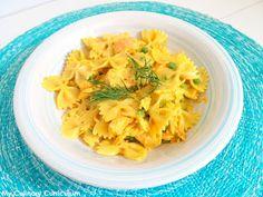 My Culinary Curriculum: Farfalle au saumon, petits pois et curry (Farfalle...