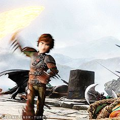 One of two times Hiccup uses inferno for anything besides stunning his opponents.