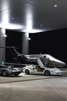 Lamborghini + Private Jet