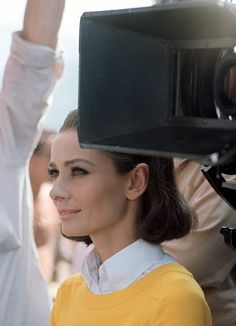 The actress Audrey Hepburn photographed by Pierluigi Praturlon in Grimaud, a village and commune located on the Côte d'Azur (known in English as French Riviera), in the Var départment of the Provence-Alpes-Côte d'Azur, region of southeastern France,. Audrey Hepburn Born, British Actresses, Mellow Yellow, Covergirl, Old Hollywood, Her Style, Role Models, My Idol, Beautiful Women