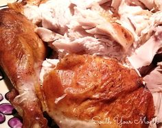 Jive Turkey - A brined and slow-roasted turkey seasoned with a special blend of herbs and spices with a special cooking method that makes it SO moist!