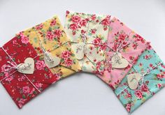 5 x Will you be my bridesmaid Card, Wedding Invitation, bridesmaid reveal. Maid of honour, Matron of Honour, floral fabric envelopes