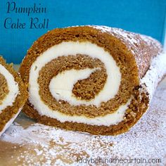 Probably the most popular dessert next to the pumpkin pie. In less then an hour you can have this Pumpkin Cake Roll dessert ready!