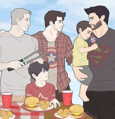 A super old request I never posted, but eh—it's the summer season and drawing is bleh right now so have some family summer fluff. Teen Wolf Art, Teen Wolf Derek, Teen Wolf Ships, Teen Wolf Boys, Teen Wolf Dylan, Supernatural Pictures, Supernatural Fan Art, Sterek Fanart, Gay Comics