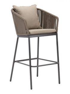 Florida Seating Captiva 30 Patio Bar Stool with Cushion Florida Seating Outdoor Patio Bar, Patio Bar Stools, Outdoor Kitchen Bars, Outdoor Stools, Outdoor Living, Outdoor Decor, Patio Rocking Chairs, Patio Chairs, Bar Chairs
