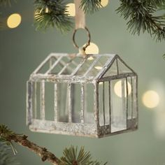Zinc Greenhouse Ornament