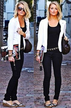 4 Formal Looks with Classic White Blazer | Wearing Black & White ...