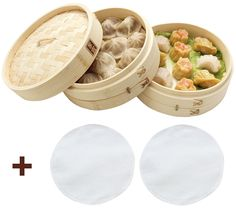 Zoie   Chloe 100% Natural Bamboo Steamer Basket - with Bonus Reusable Cotton Liners -- You can get additional details at the image link.