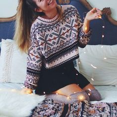 Essentially warm Christmas sweaters make you happier beautiful Christmas sweaters Christmas Party Outfits, Holiday Party Outfit, Edgy Outfits, Outfits For Teens, Couple Outfits, Rock Outfits, Fashion Blogger Style, Fashion Bloggers, Estilo Blogger