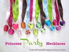 DIY Princess Necklaces for a Craft Birthday Party