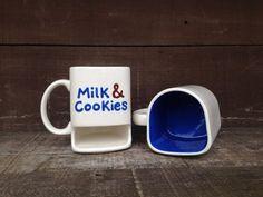 Tasse /à caf/é amusante avec inscription /« Cookies and Milk Bubbles Stop /» un anniversaire Cadeau pour un ami No/ël
