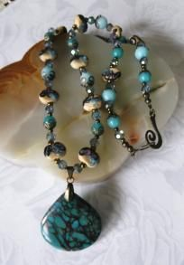 """""""Into The Deep"""" necklace & earrings"""