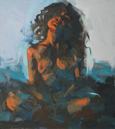 """Saatchi Online Artist Alexander Ilichev; Painting, """"TIRED"""" #artsy"""